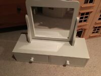 Girls next dressing table mirror with drawers
