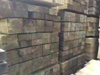 X50 wooden railway sleepers 200x100x2400mm Pressure Treated