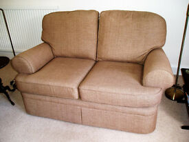 Marks & Spencer Charlotte two seater compact sofa in baker chenille caramel