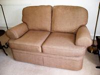 Marks & Spencer Charlotte two seater compact sofa in baker chenille caramel