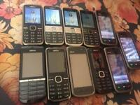 Joblot 11 Nokia mobile phones all working