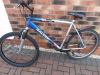 Raleigh attitude hybrid mountain bike front suspension open to offers