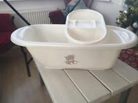 Mothercare baby bath with top bowl hardly used