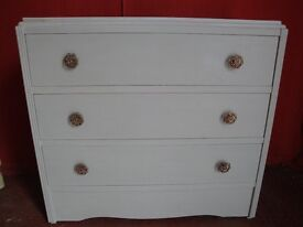 VINTAGE CHEST OF DRAWERS in ANNIE SLOAN PARIS GREY