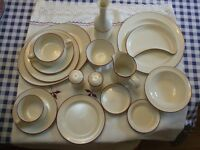 Several items of good quality crockery and cutlery suitable for small cafe/restaurant/B&B