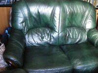 2 seater sofa, leather.
