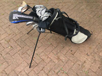 Wilson golf club set including bag, warmers, Ts and balls