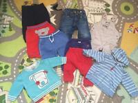 Bundle of boys clothes size 0-3m, VGC, 40 items