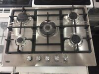 Brand new 5Burner GAS Hobs stainless steel warranty included unboxed and Graded