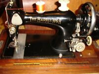 Harris 9H hand operated sewing machine in lovely condition