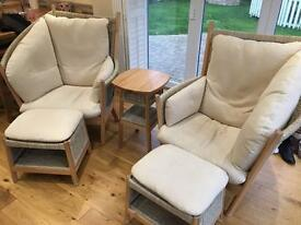 Fantastic comfy chairs and footstalls