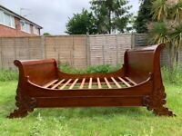 Magnificent Brodsworth Style Sleigh 6FT Super King Bed Frame- Great Condition