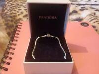 Pandora or pandora like bracelet with box 20cm
