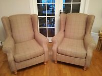 Next Sherlock Chairs (1x two seater and 2x arm chairs)