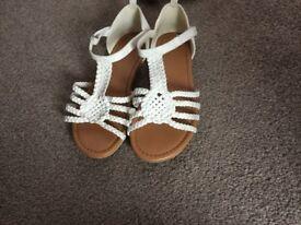 Girls sandals size 2.5 & 3