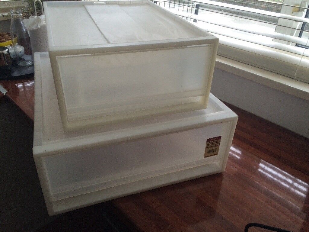 Muji Storage Box Boxes Drawers Stackable Clear