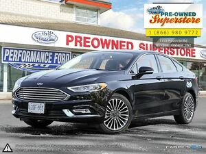 2017 Ford Fusion SE----leather & sunroof + AWD