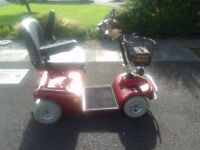 Shoprider Sovereign 4 Mobility Scooter - Burgundy - with charger - hardly used