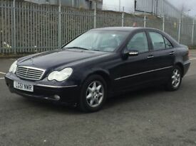 2002 MERCEDES C220 * ELEGANCE * SAT NAV * LEATHER * FAMILY OWNED SINCE NEW * PART EX * DELIVERY *