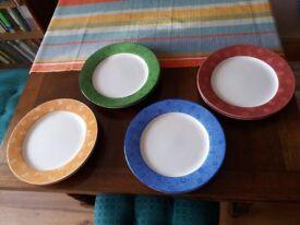 Set of 8 dinner plates - Sango Potpourri pattern