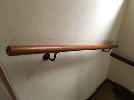 Beautiful solid oak hand rail