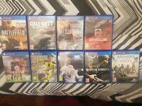 x9 PS4 GAMES BUNDLE FOR SALE - FIFA,COD,BATTLEFIELD