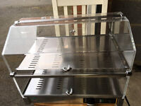 NEARLY NEW!! RM Gastro VEC520 Heated Display Case Double (500mm) Snack cabinet