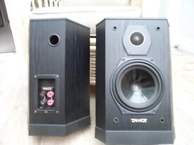 Tannoy speakers( 605 11). 14 inches high in black