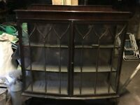 FREE antique display cabinet. May be of interest to furniture restorers. Repairs required.