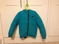 Bench Coat in Blue 7-8 year old.