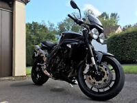 Black Triumph Speed Triple 2010 with low mileage