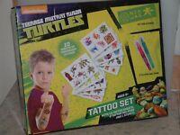 Nickelodeon, Teenage Mutant Ninja Turtles, Temporary Tattoo Set, New and boxed.