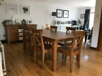 Ikea Stornas Extendable Dining Table with 6 Chairs