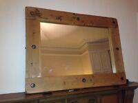 Rustic pine mirror