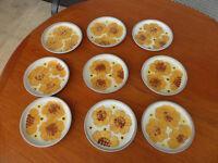 Denby Denbyware Romany 9 Tea plates