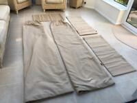 Pair of heavy thick interlined curtains + matching 3 Roman Blinds: