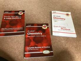 Bundle of books for OCR B A-level chemistry. Used at TWGGS.