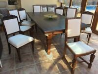 Billiard/Dining table & set of 8 chairs