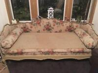 Early 20th century day bed. 3-4 seater shabby chic