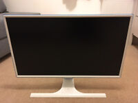 """27"""" LED monitor with smartphone wireless charging"""