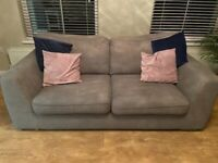 Two fabric sofas. Great condition smoke free home.