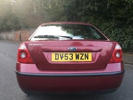 2003 (53) FORD MONDEO LX MODEL *** 12 MONTHS MOT ***