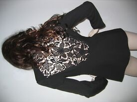 Wool Jacket with Back Lace Insert (Size 42)