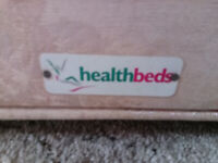 'HEALTH BEDS' FULL SIZE SINGLE DRAWER DIVAN BED WITH FIRM MATTRESS