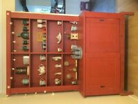 Tall quirky red dining dresser