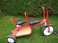 Children's Beleduc Chopper style Tandem Taxi Trike
