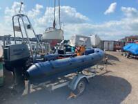 4.8m Rib with 55Hp Suzuki outboard engine