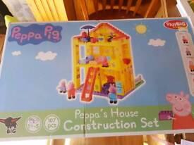 Peppa pig construction house