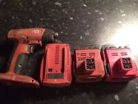 Hilti battery B144/2.6 , 3Ah,Adapter,impact for parts