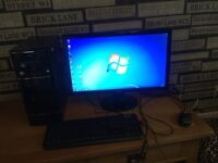 Desktop benq computer, immaculate condition, installed with windows 10, 8GB memory